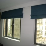 Roman blinds (Wyndham street hotel)